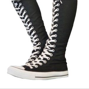 Converse All Star Black Knee High Sneakers Wm 7.5